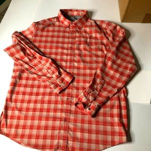 Swiss Tech Mens Snap Closure Casual Plaid Shirt